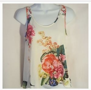 H&M Womens Sleeveless Top Floral